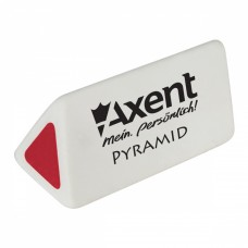 Ластик Axent soft Pyramid, white-red (display) (1187-А) - Фото №1
