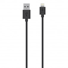 Дата кабель USB 2.0 Lightning charge/sync cable 2м, Black Belkin (F8J023bt2M-BLK)