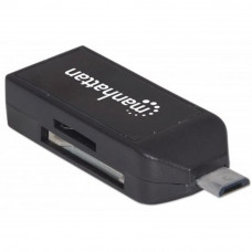 Зчитувач флеш-карт Manhattan imPORT Link (406222) OTG USB док-станція, чорний, Extreme SD, HS MMC, H