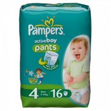 Подгузник Pampers Active Boy Maxi (9-14 кг), 16шт (4015400610465) - Фото №1