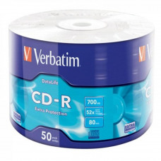Диск CD Verbatim 700Mb 52x Wrap-box Extra (43787) - Фото №1