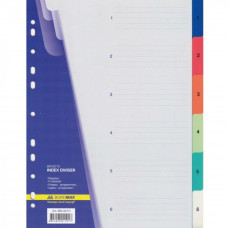 Роздільник сторінок BUROMAX colored, 6 dividers (BM.3210) Матеріал - пластик, формат - А4, тип - циф - Фото №1